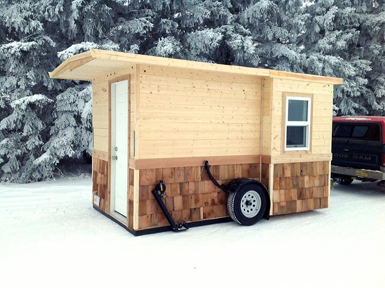 Ice fishing shacks finished right contracting for Ice fishing shanty plans